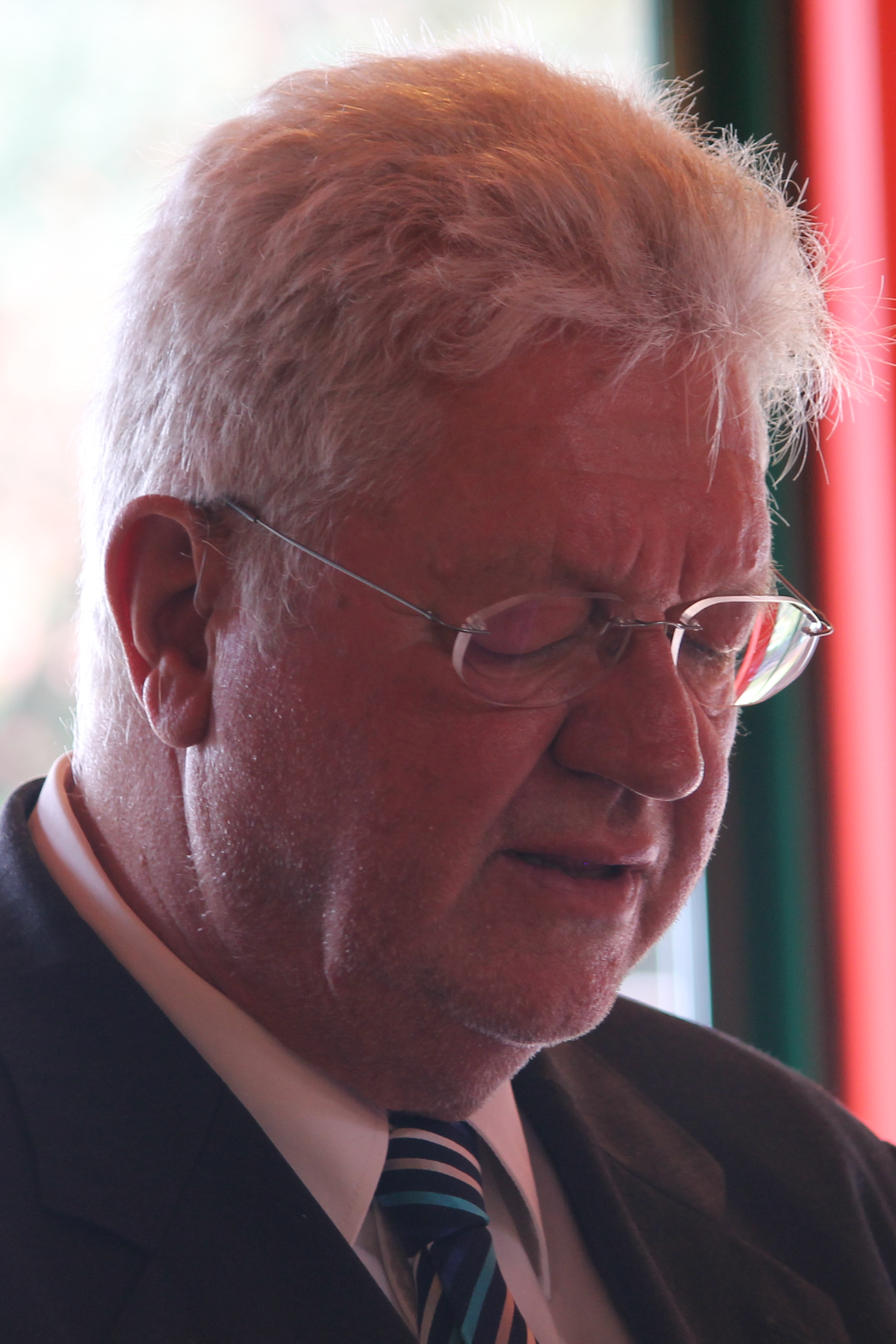 Pastor Johannes Löffler bei der Lesung